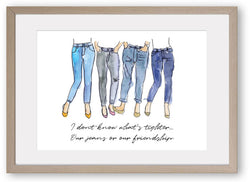 Valentines Day Friendship Girlfriends -Art Print/ Plaque