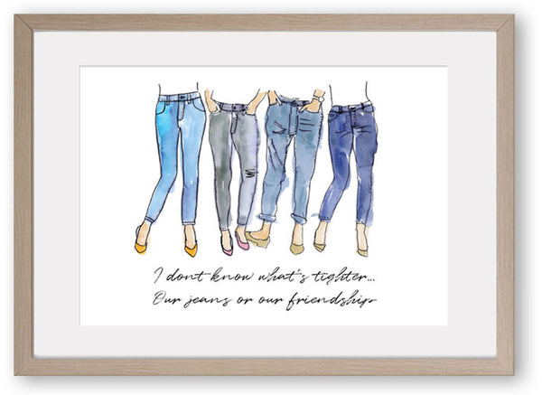 Friendship Girlfriends -Art Print/ Plaque