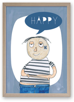 Happy - Art Print/ Plaque