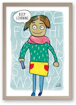 Keep Learning - Art Print