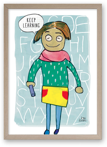 Keep Learning - Art Print/ Plaque