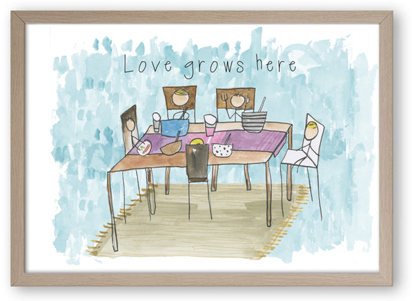 Love Grows Here - Art Print