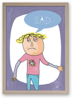 Sad - Emotions Series Art Print/ Plaque