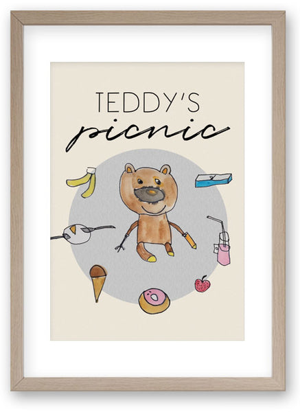 Teddy's Picnic - Art Print/ Plaque