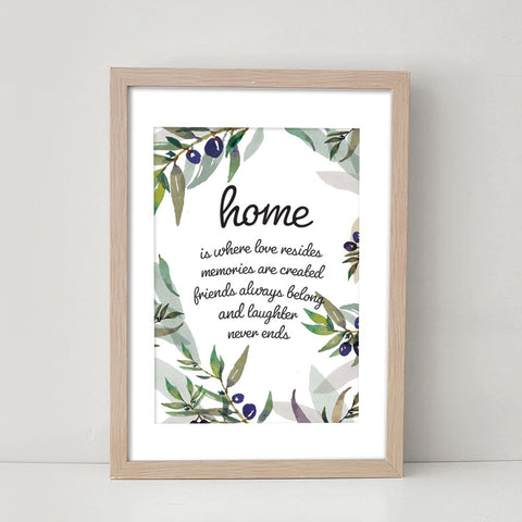 Home is Where Love Resides - Art Print/ Plaque