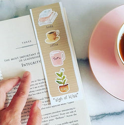 Bookmark Coffee Tea Book Bliss