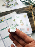 Planner stickers - Potted Plants, Coffee And Books