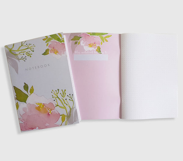 Pink Peony Bullet Dot Journal Notebook