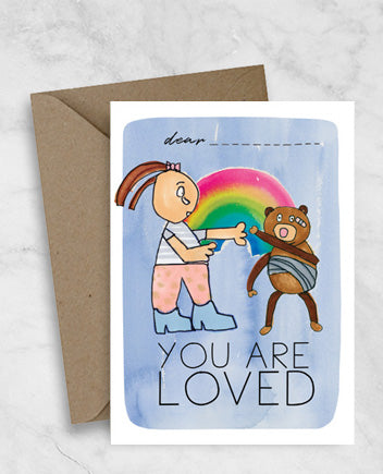 Get Well Soon Greeting Card - You Are Loved