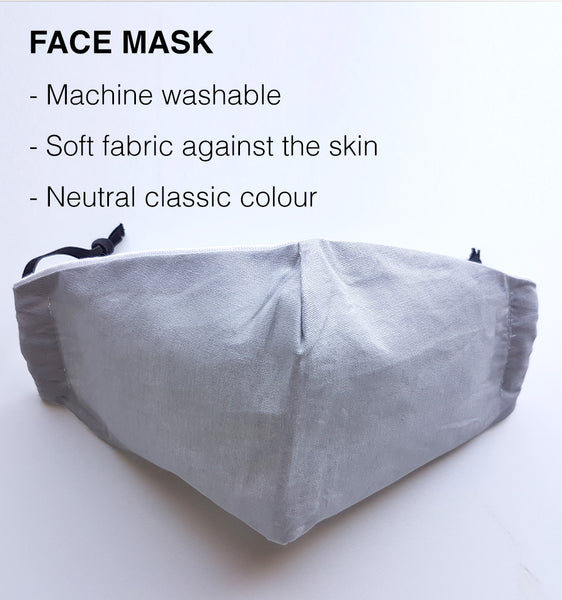 Reusable Face Mask - Cool Grey