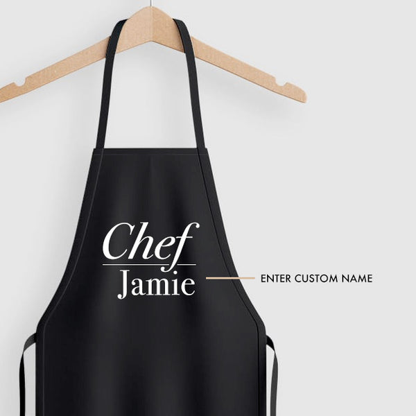 Personalised Apron - Chef Custom Name