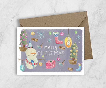 Christmas Greeting Card - Snowman