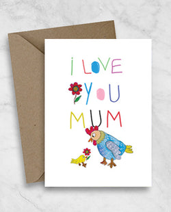 Mother's Day Greeting Card - I love you mum