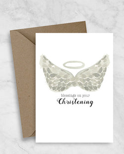 Christening/Baptism Greeting Card - Blessings on your christening