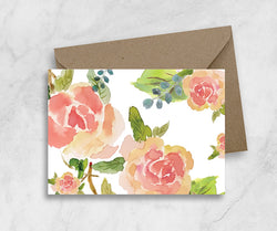 Greeting/ gift Card - Peachy Rose Garden