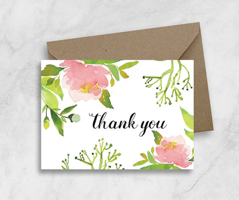 Greeting Card - Thank You In Peony