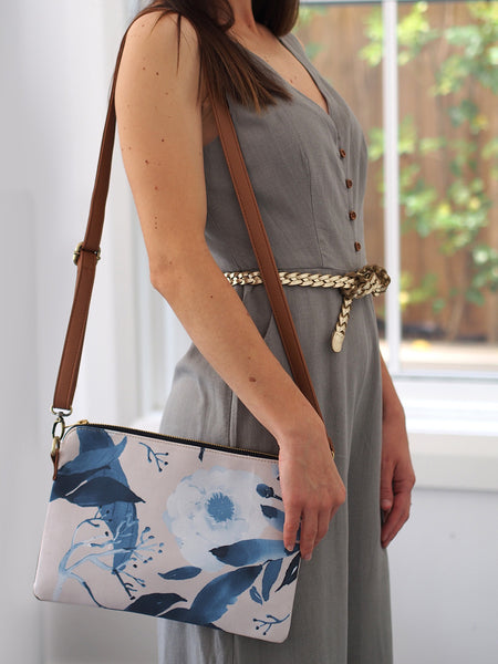 Cross Body Bag - Paeonia Duotone (back in stock)
