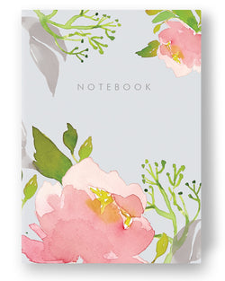 A6 Premium Notebook - Pink Peony