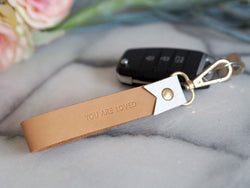 Leather Keychain - You Are Loved