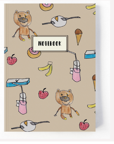Brown Kraft Teddy Notebook