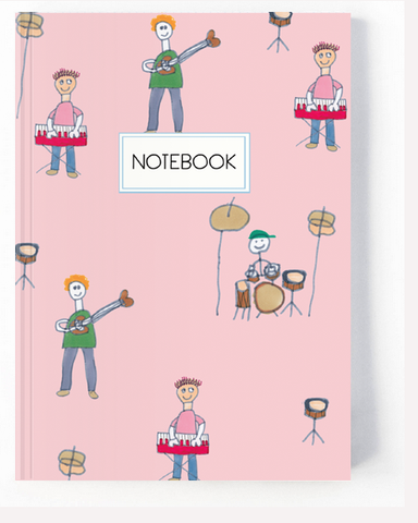 Musician Band Notebook - Blush Pink