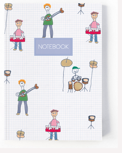 Musician Band Notebook - White