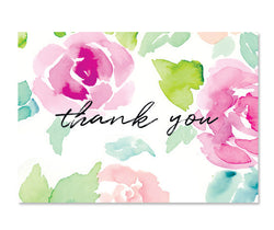 Greeting Card - Thank You In Roses