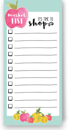 Shopping Market List Notepad
