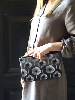 Clutch Bag - Silver Grid