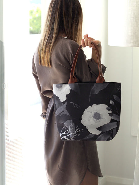 Tote Bag - Paeonia Monochrome (low stock available)