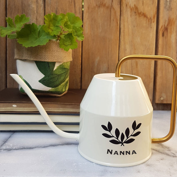 Personalised Watering Can - Antique Wreath