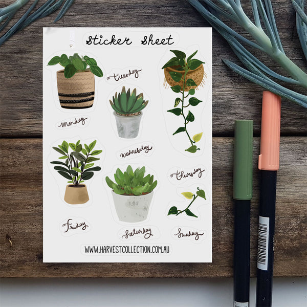 Planner stickers - House Plants and Days