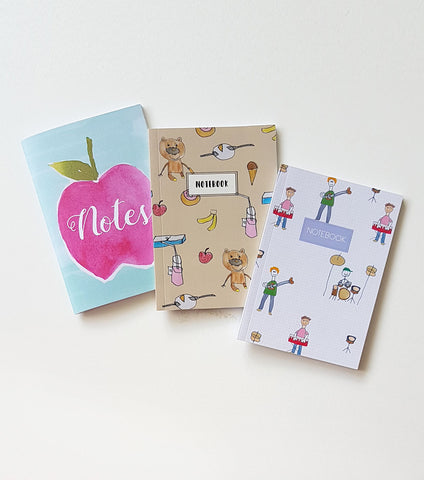 A6 Premium Notebook Set of 3 - Kids Pack