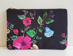 Carry All Pouch/ Clutch Bag - Night Bloom