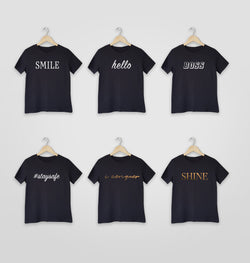 Women Short Sleeve T-shirt - Inspirational Words Various Designs