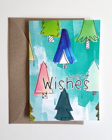 Holiday Greeting Card - Warm Wishes
