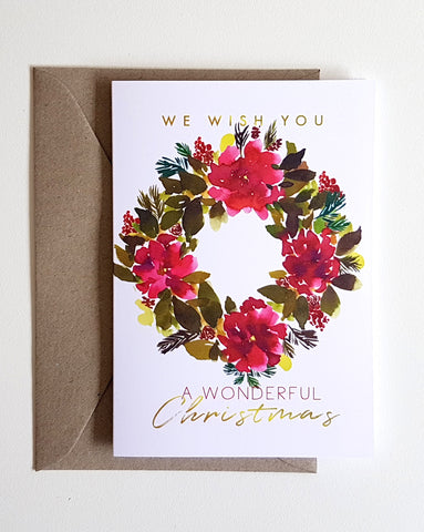 Holiday Greeting Card - Christmas Wreath