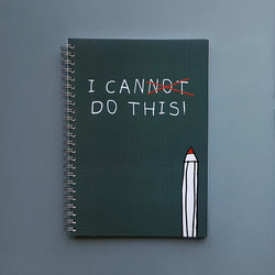 I Can Do This Bullet Dotted Journal Spiral Motivational Notebook