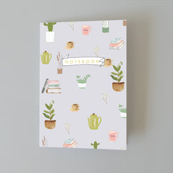 A5 Bullet Dot Journal Notebook - Coffee and Plants