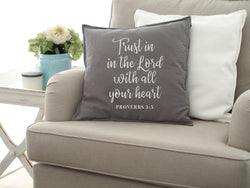 Washable Cushion Cover Quotes - Trust In The Lord Proverbs 3:5