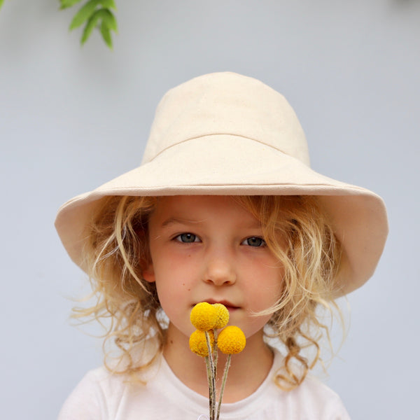 Child's Canvas Hat | Natural