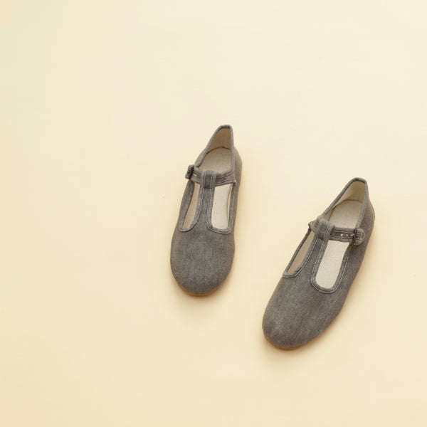 Charcoal | Adult T-Strap May Jane