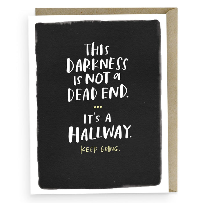 Darkness Is A Hallway card