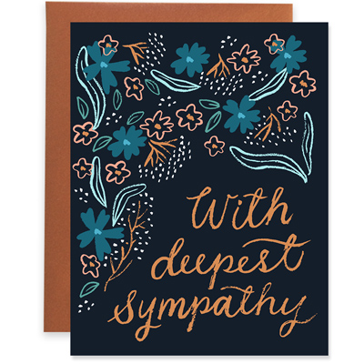 Gold Foil Deepest Sympathy Greeting Card