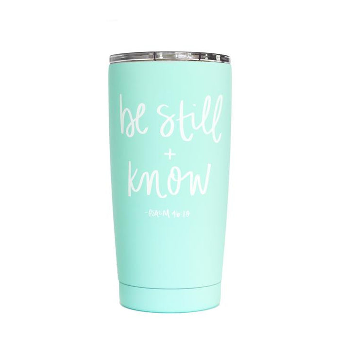 Be Still and Know travel mug