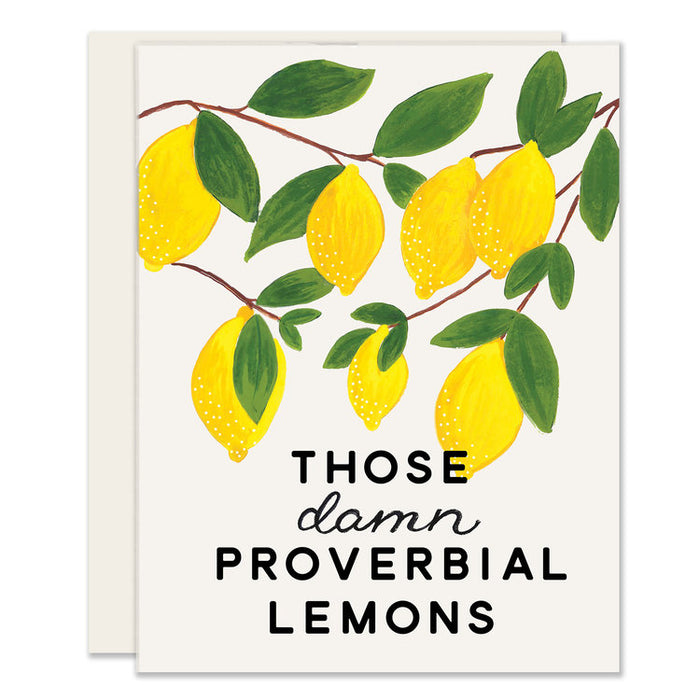 Damn Proverbial Lemons Greeting Card