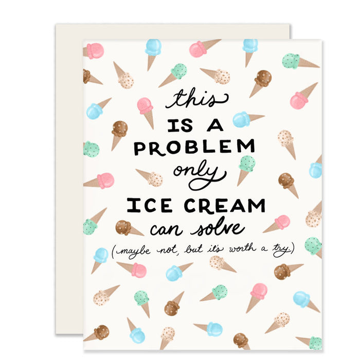 Ice Cream Problem Greeting Card