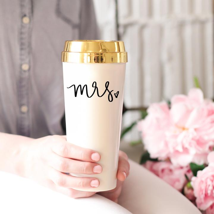 Mrs. Gold Travel Mug