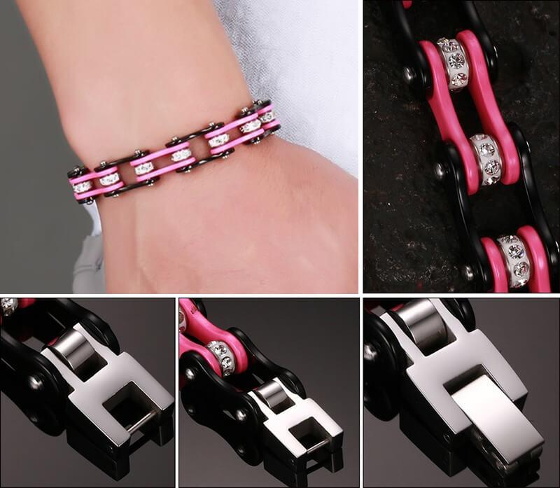 bracelet cha ne de moto pour elle cool et pratique. Black Bedroom Furniture Sets. Home Design Ideas