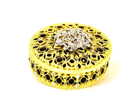 Round Jewelry Trinket Box